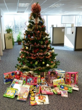 Broadspire's Fairfax, Va. office donated gifts for Toys for Tots
