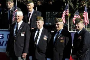 American veterans receive accolades during a Veterans Day ceremony. Photo credit: Carmine Salvatore via istockphoto.com