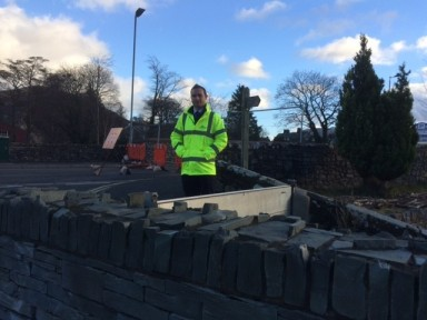 Crawford's Paul Lofkin helps those affected by Storm Desmond near Appleby-in-Westmorland, UK.