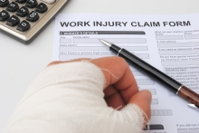 hurted hand and work injury claim form