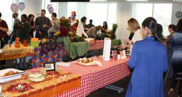 Crawford & Company®'s Atlanta Support Center employees enjoy food and festivities during the annual Chili Cook-off and Luncheon, which takes place right before Halloween this year.